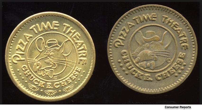 Chuck E. Cheese tokens