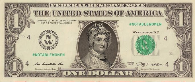female currency images Abigail Adams