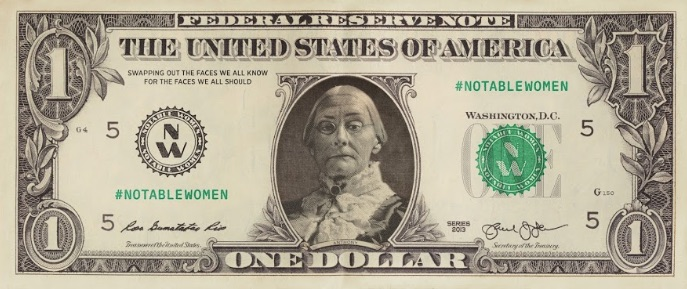 female currency images Susan B. Anthony