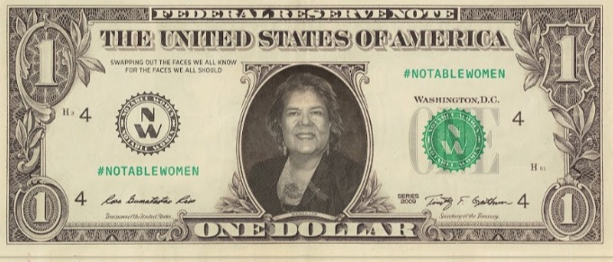 female currency images Wilma Mankiller