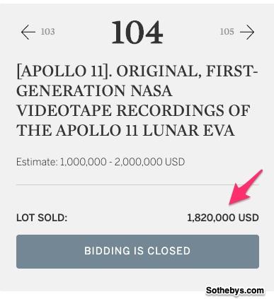 Apollo 11 videotapes