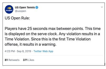 tennis serve clock