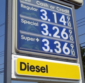 Gasoline prices add 9/10 at the margin