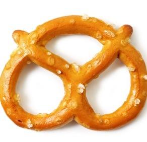 Beer and pretzels.