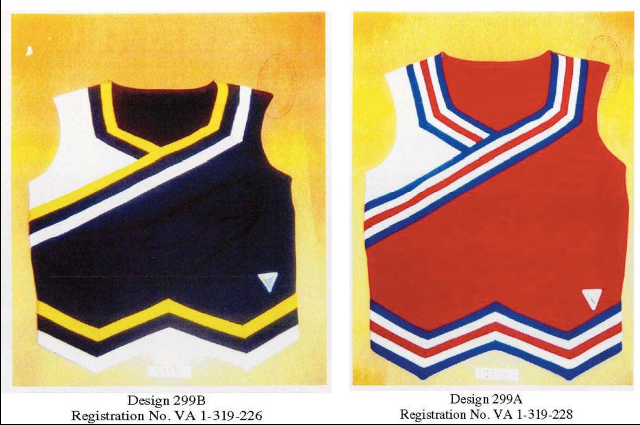 Intellectual property rights for cheerleader uniforms