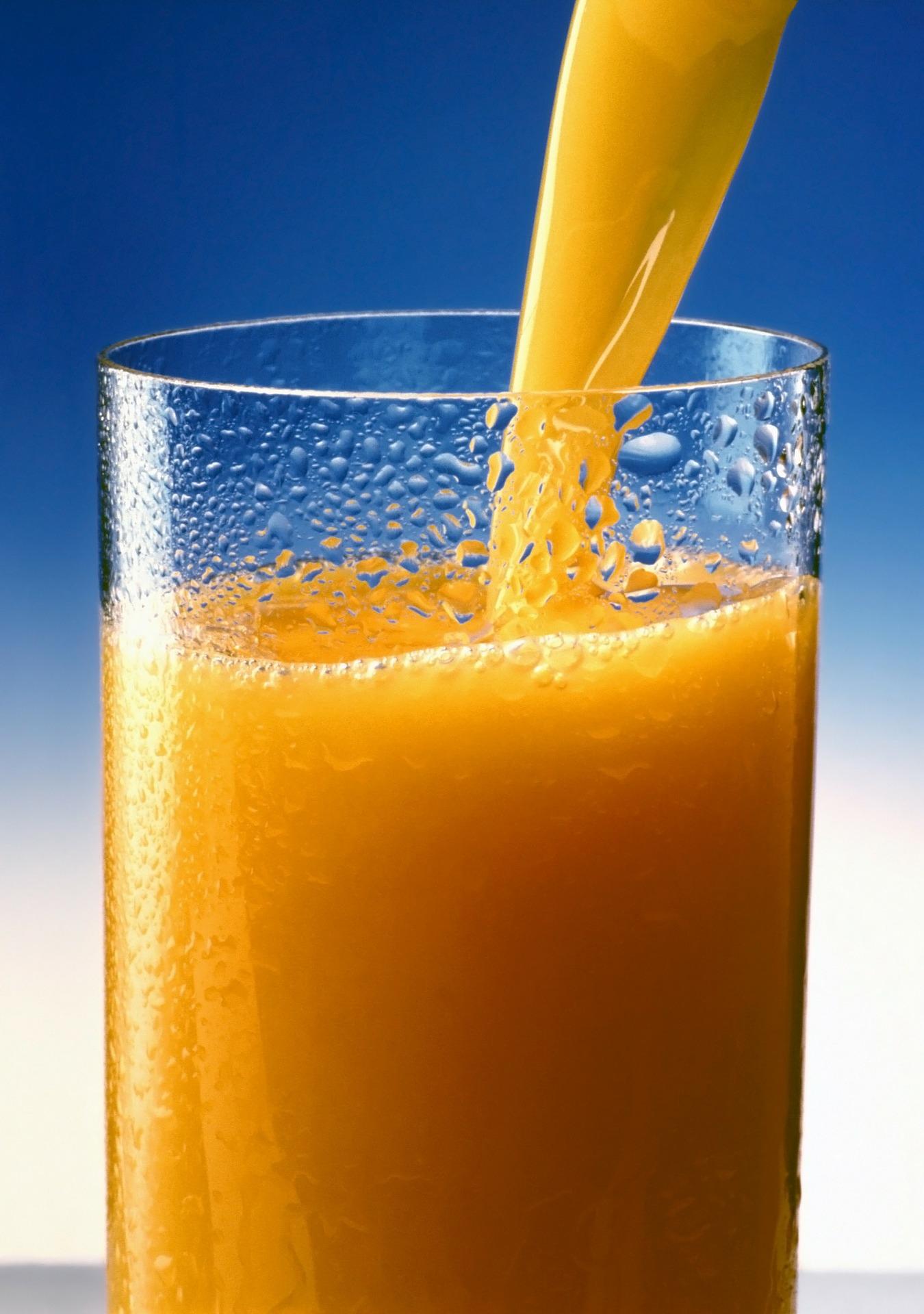 orange juice consiption