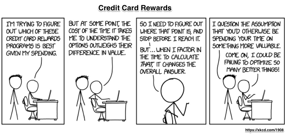 credit card rewards opportunity cost