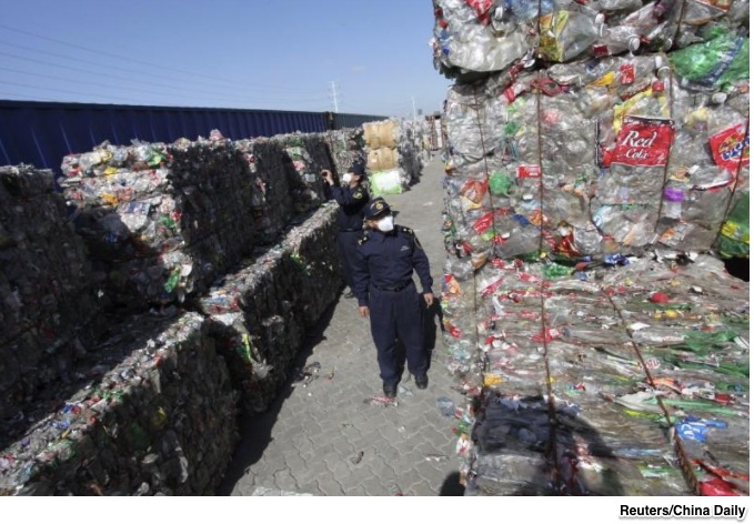 the world's waste and China