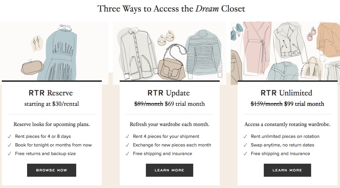 sharing economy and Rent the Runway