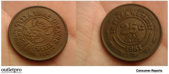 Chuck E. Cheese tokens