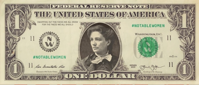 female currency images and Victoria Woodhull