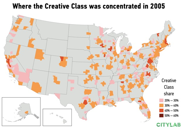 geography of creative talent