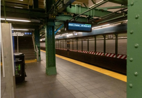 traffic changes and empty subway transit trend