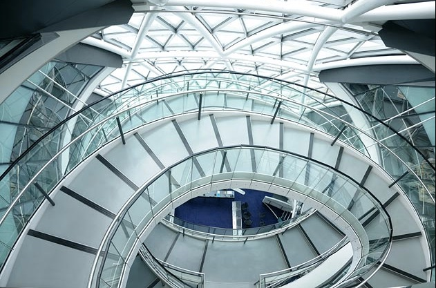 """New Year's resolutions and the Bullitt Center staircase """"escalier"""""""