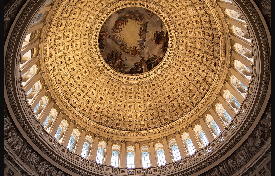 Weekly Economic News Roundup and rotunda ceiling in the U.S. Capitol